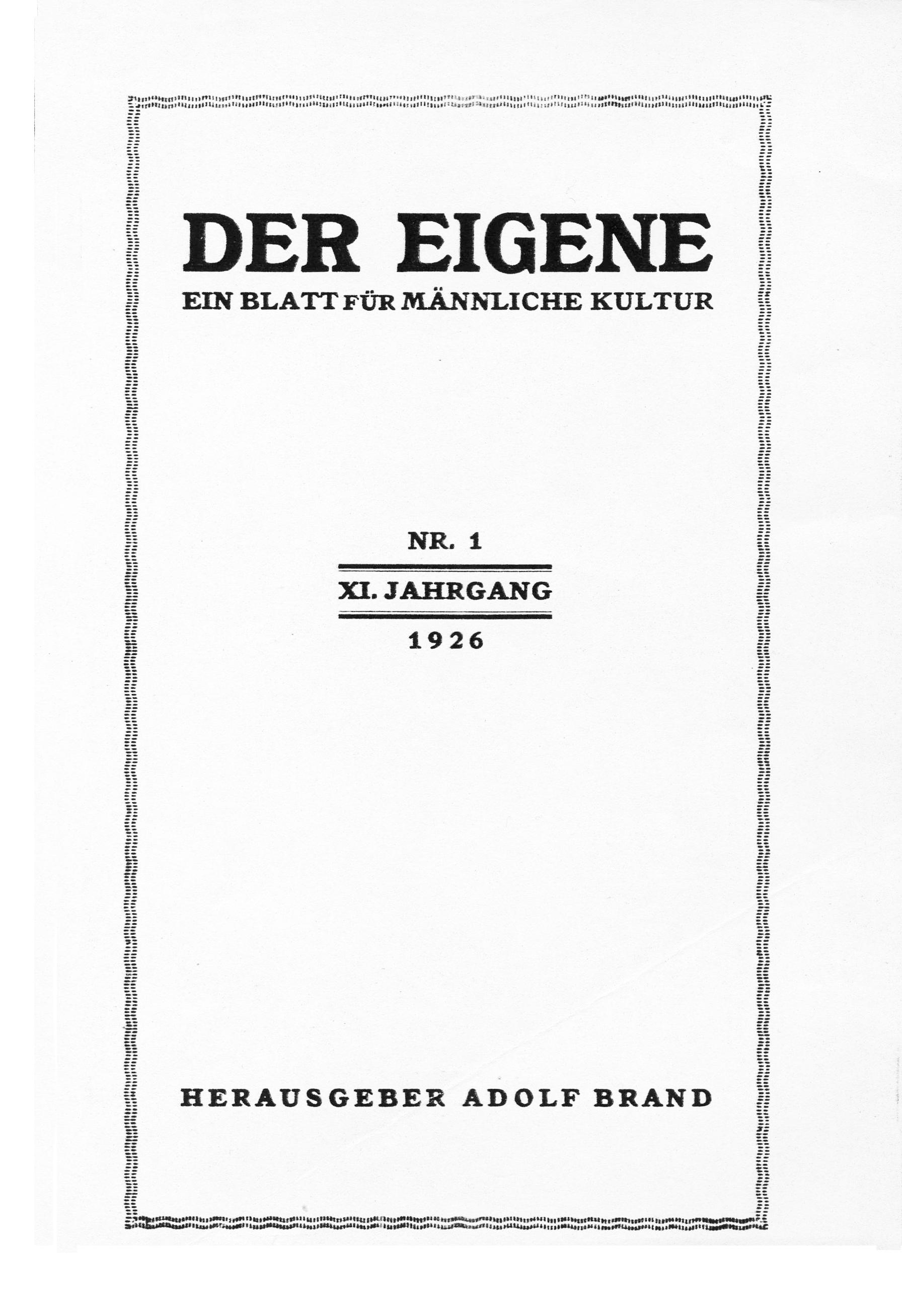 Der_Eigene_1926-27_vol_11
