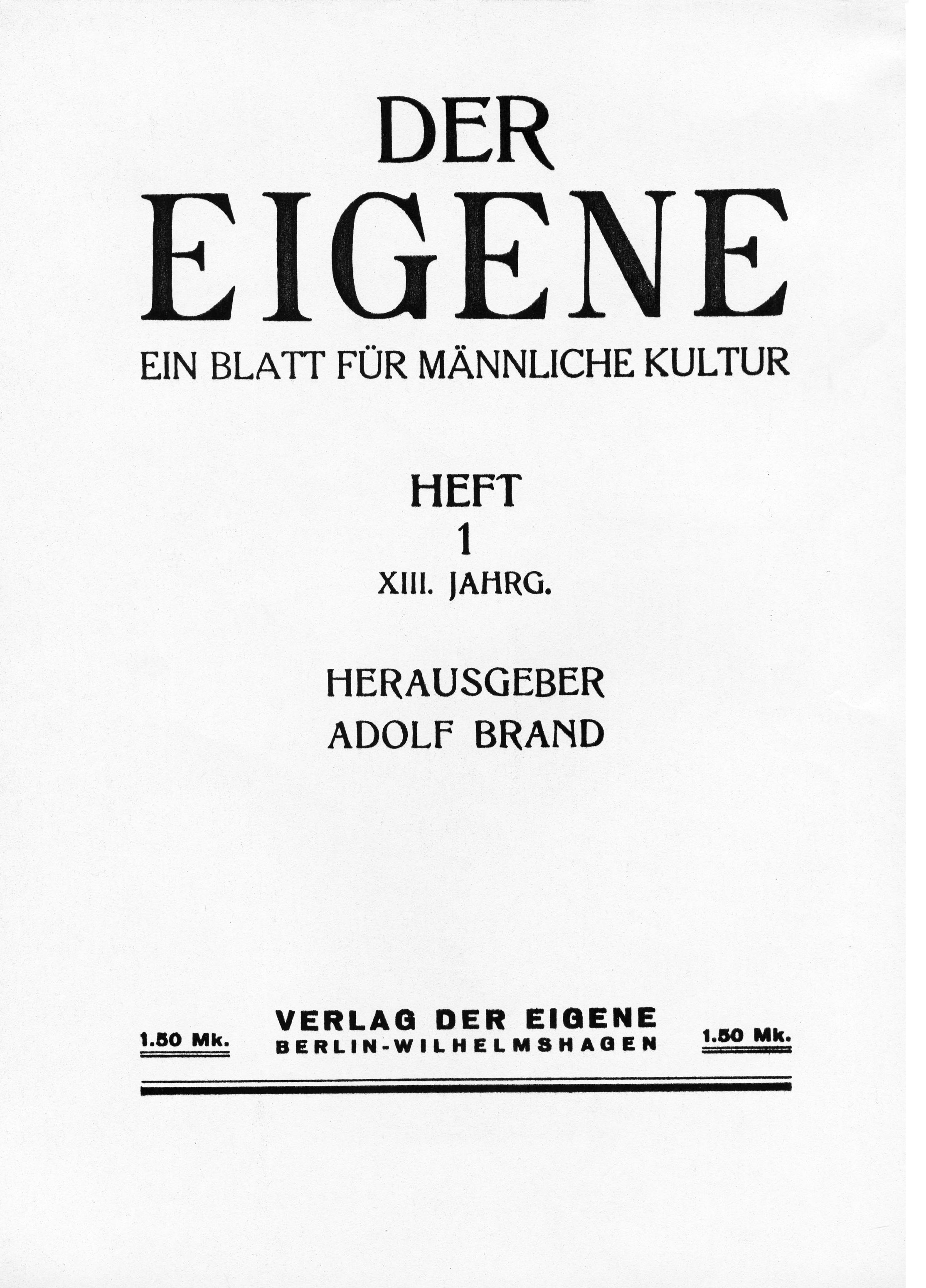 Der_Eigene_1930-32_vol_13