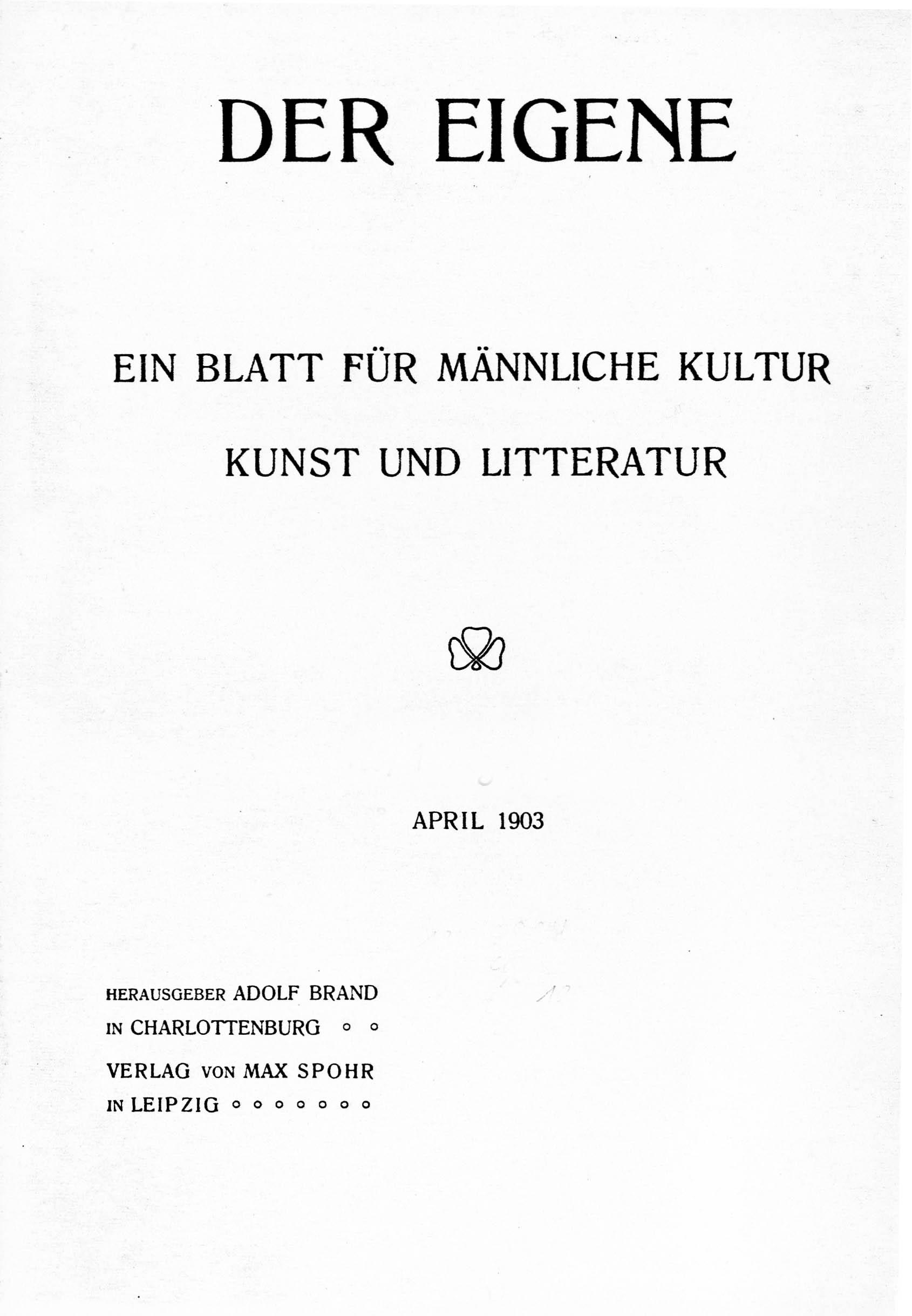 Der_Eigene_New_Series_vol_2_(1903)